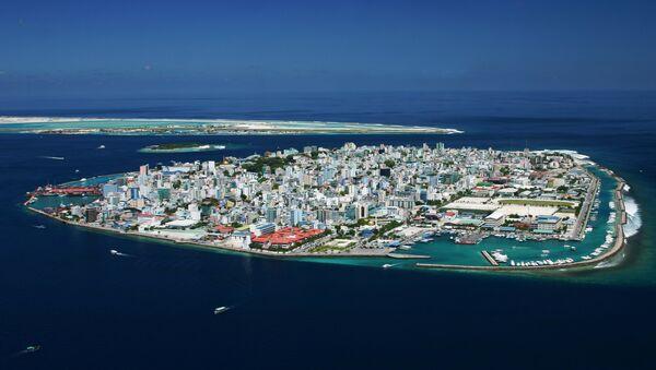 Bird's-eye view of the central Malé island - Sputnik International
