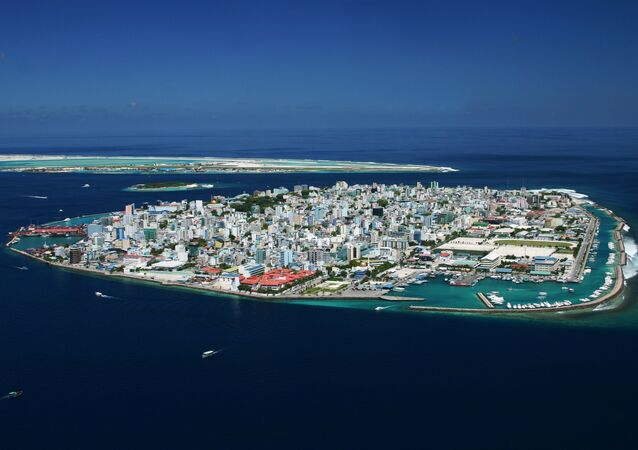 Bird's-eye view of the central Malé island