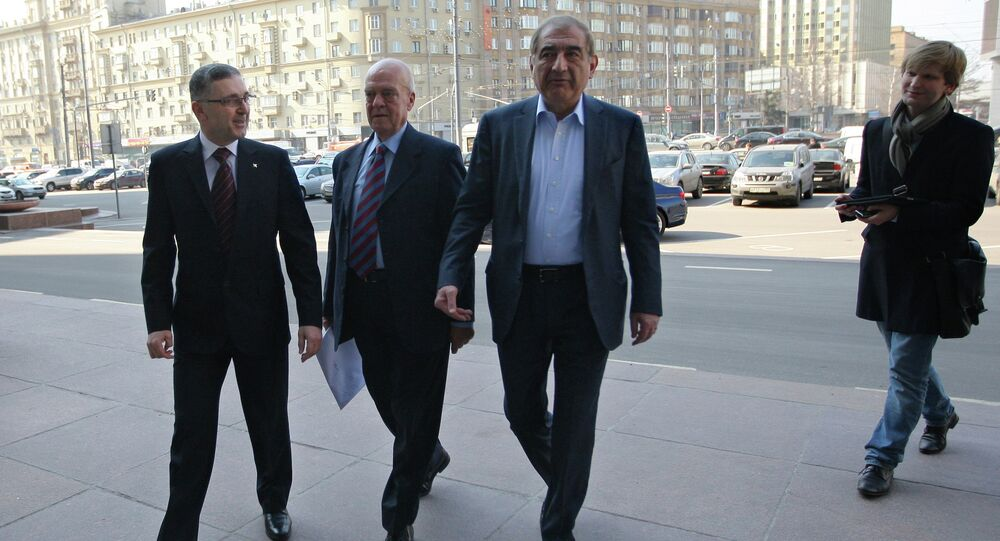 Syrian opposition delegates in Moscow. File photo