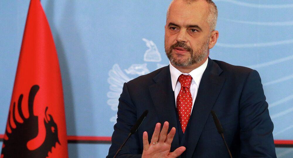 Albania's Prime Minister Edi Rama