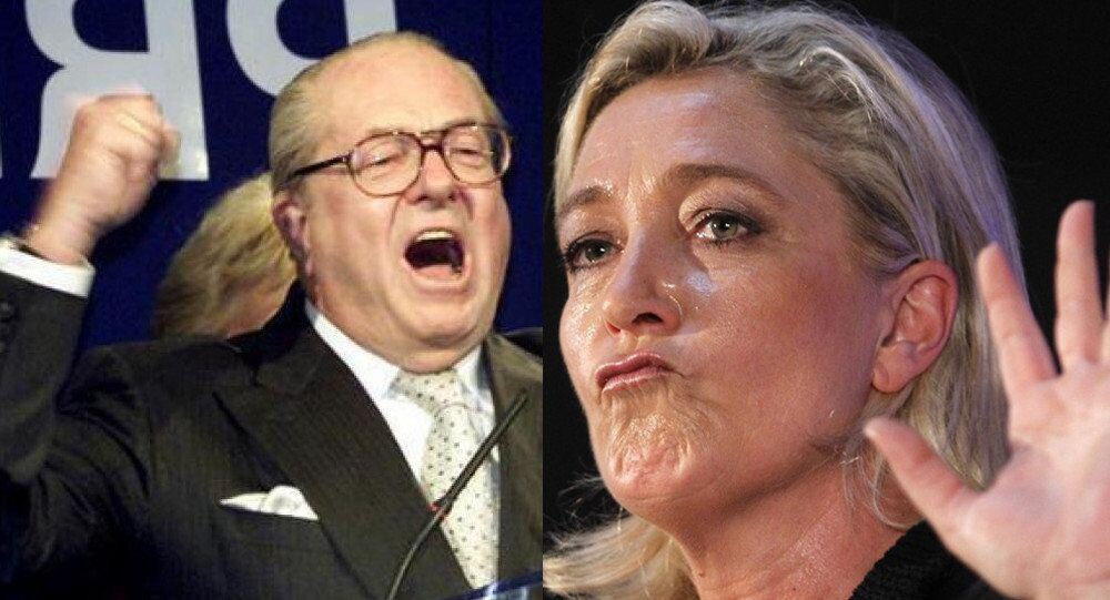 His status as honorary president does not give him the right to hijack the National Front with vulgar provocations seemingly designed to damage me but which unfortunately hit the whole movement, Marine Le Pen said of her father's remarks made in an interview with the far-right magazine Rivarol.