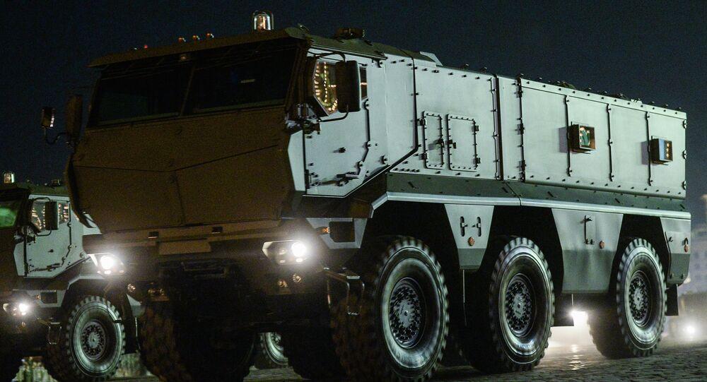 A state-of-the-art Iskander-M short-range tactical missile system