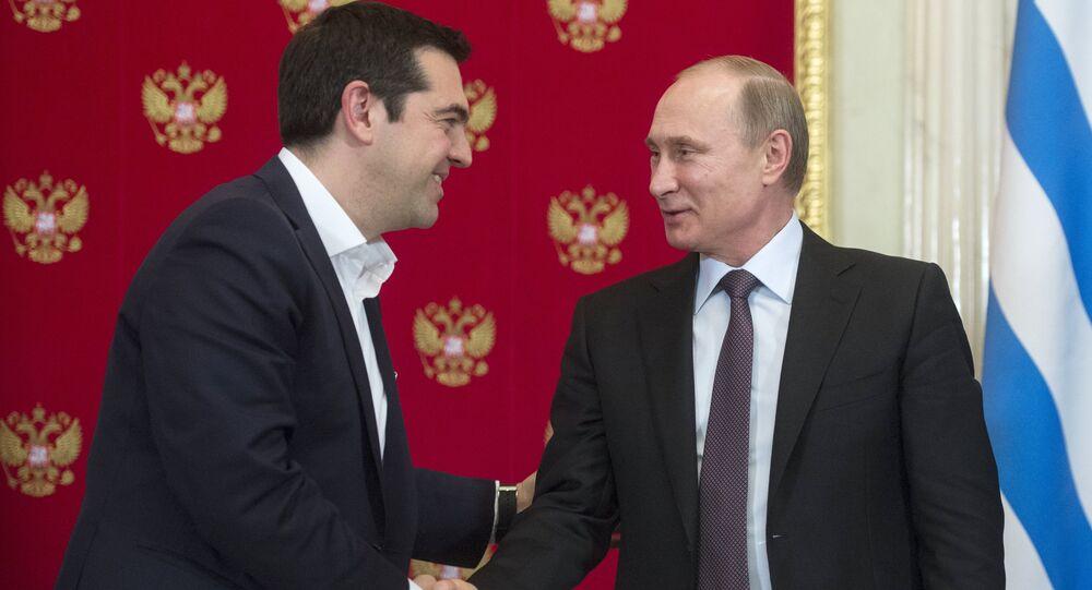 Vladimir Putin meets with Greek Prime Minister Alexis Tsipras