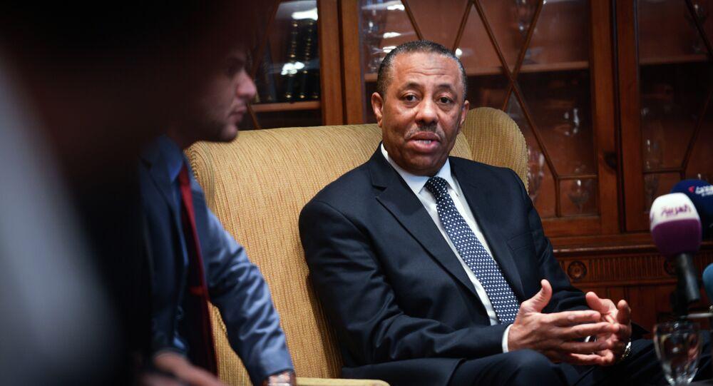 Libya's internationally recognised prime minister Abdullah al-Thani