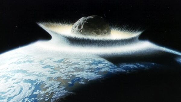 An artist's impression of the asteroid that killed the dinosaurs.  - Sputnik International