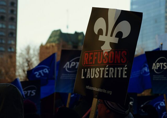 Anti-austerity demonstrations continued Thursday in Quebec, the day after the occupation of a university building by student protesters led to a late night police raid.