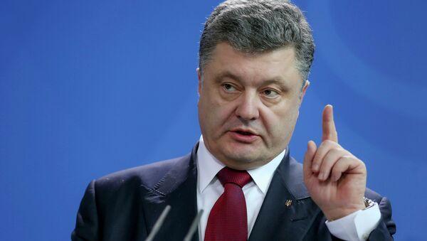 Ukrainian President Petro Poroshenko - Sputnik International
