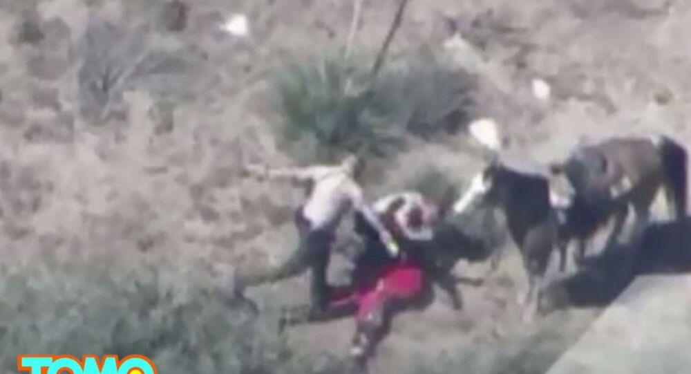 Screen Shot of Police Beating