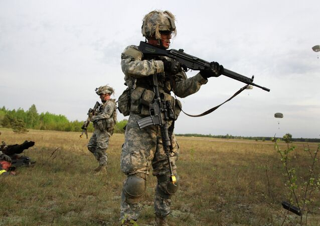 Paratroopers of the 173rd Airborne Brigade of the US Army in Europe