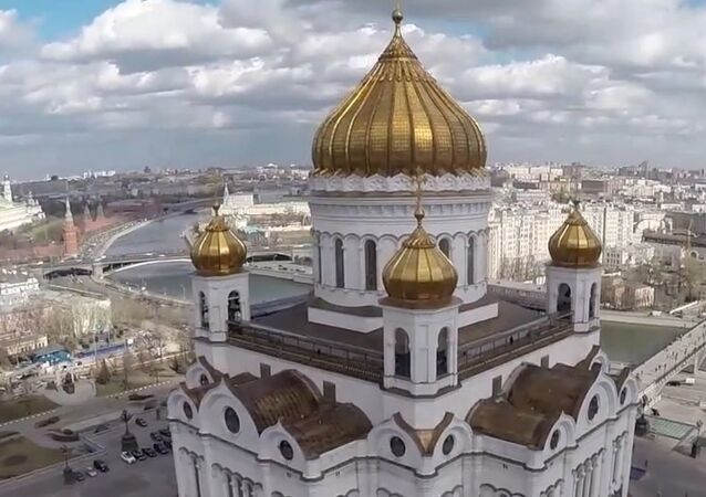 Russia: Drone captures the Cathedral of Christ the Saviour ahead of Orthodox Easter