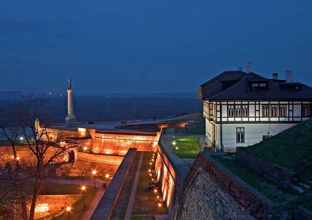 Kalemegdan Fortress at Night - Belgrade, Serbia