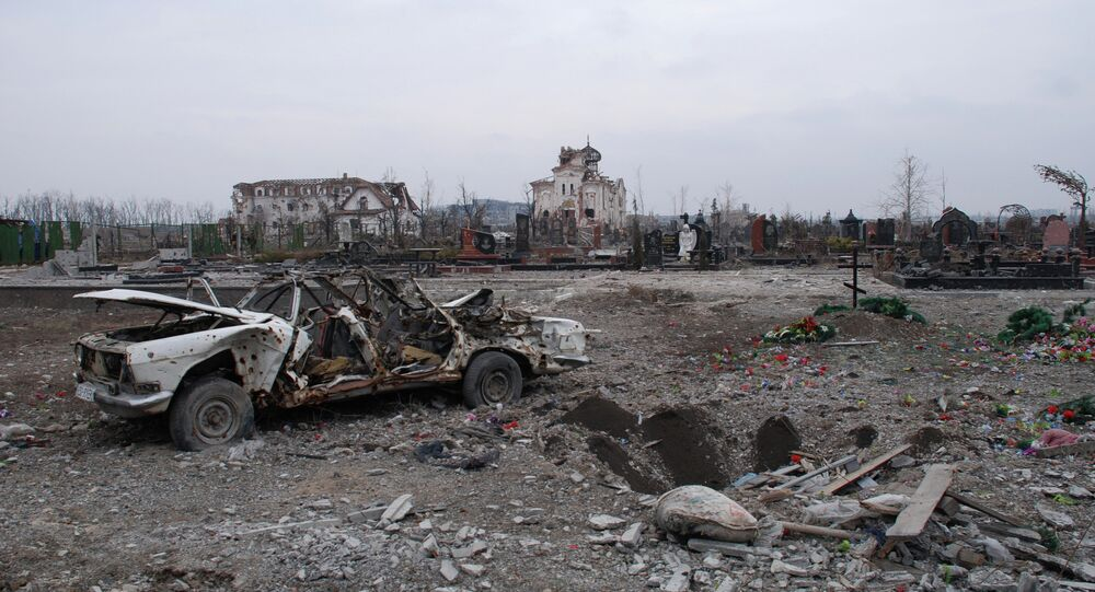 The Iversky Convent, located near the Donetsk airport, was destroyed by an artillery attack.