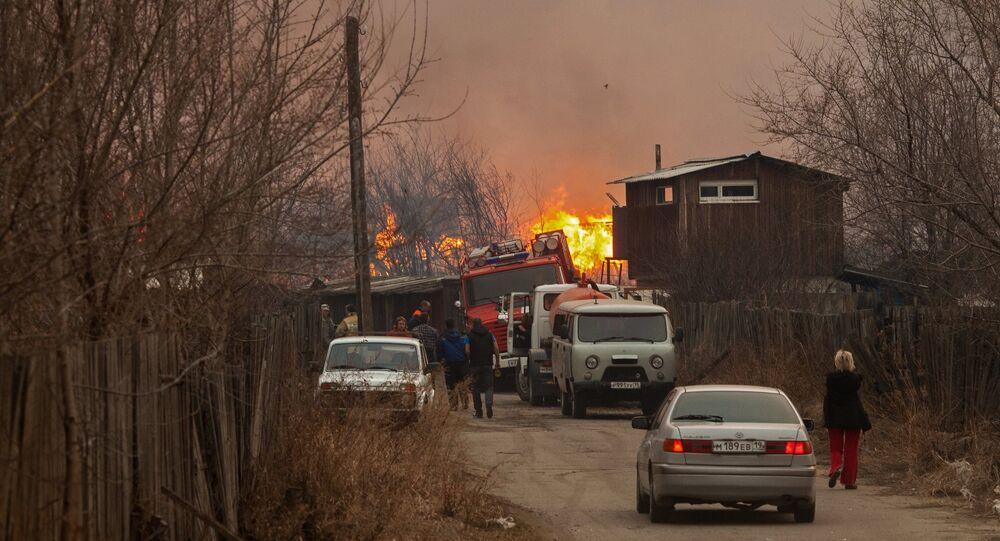 Wildfires in Russia's Khakassia republic