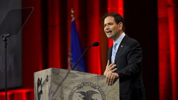 US Senator Florida Marco Rubio (R-FL) speaks during the National Rifle Association's annual meeting in Nashville, Tennessee April 10, 2015 - Sputnik International