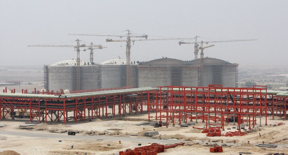 The partially constructed site which is part of the South Pars gas field facility, on the northern coast of Persian Gulf, in Assalouyeh, Iran