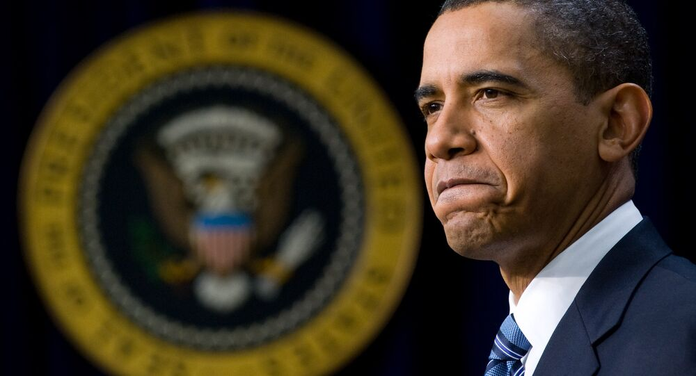 US President Barack Obama speaks during an announcement of nearly $600 million in American Recovery and Reinvestment Act