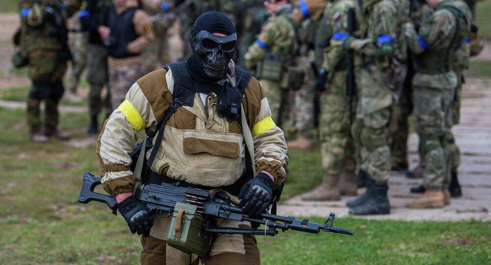 Russia's airsoft enthusiasts take part in a military tactical game