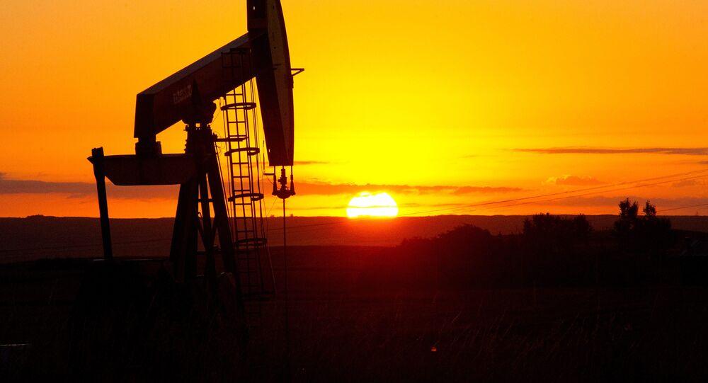 An oil well near Tioga, North Dakota