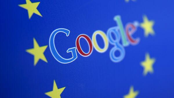 Google and European Union logos - Sputnik International