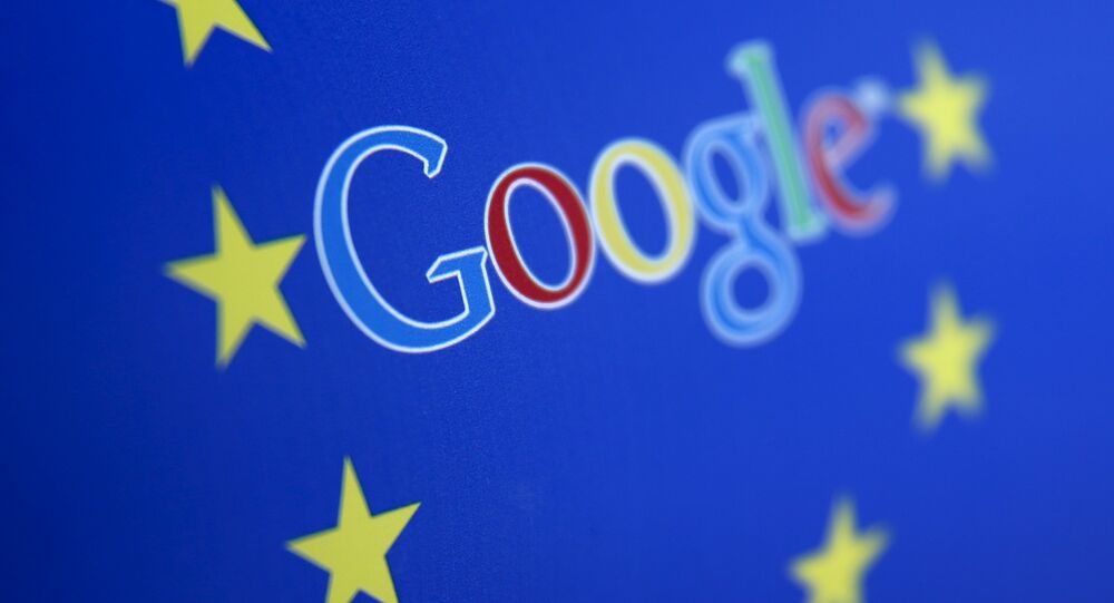 Google and European Union logos