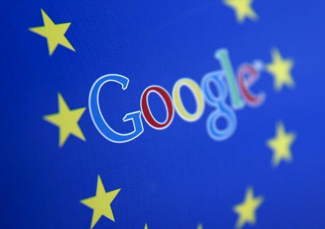 Google and European Union logos