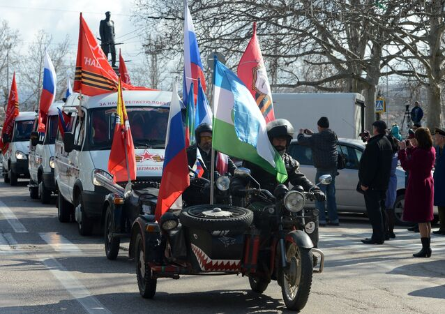 The auto rally Our Great Victory roars off in Sevastopol