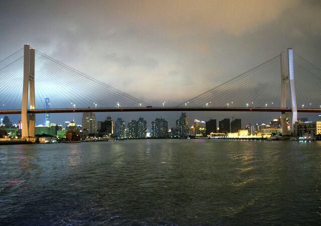 Evening views of Shanghai