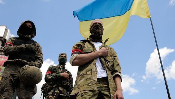 Supporters of the Right Sector radical movement - Sputnik International