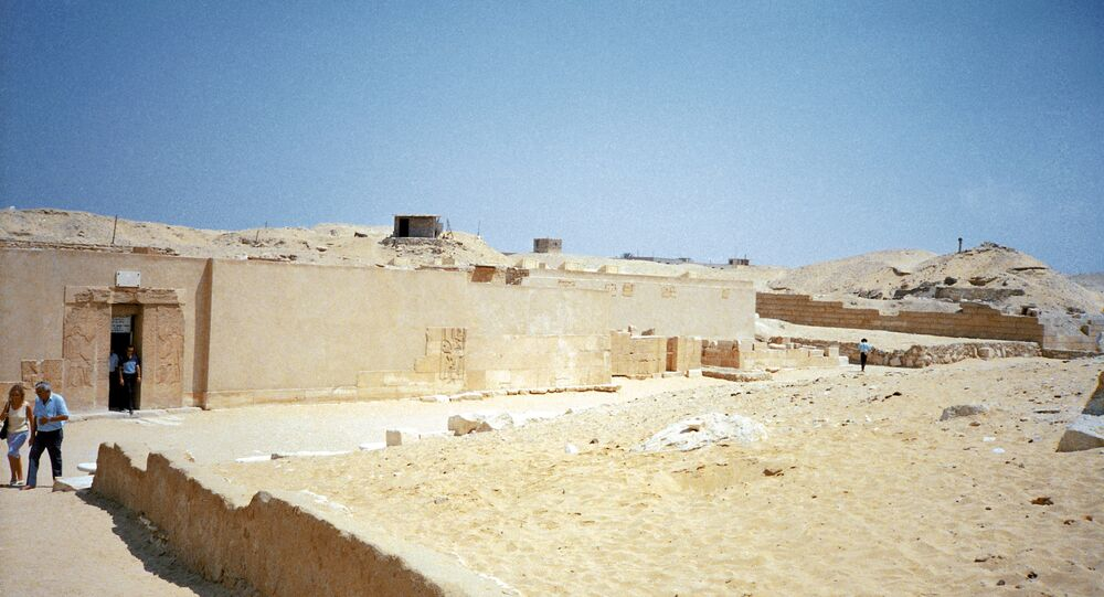 Saqqara is a village in Egypt, located 30 km south of Cairo, serving as necropolis for the Ancient Egyptian capital, Memphis