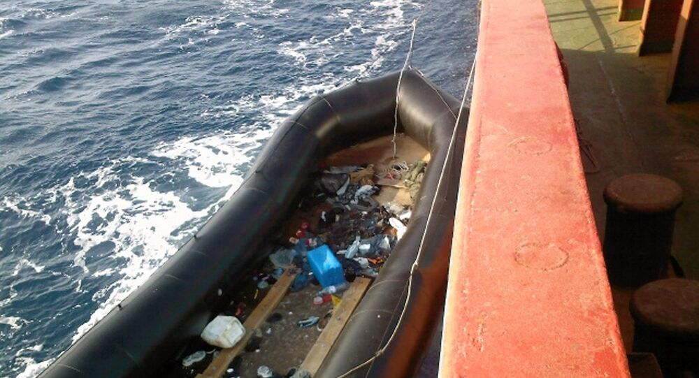 Inflatable boat use by immigrants