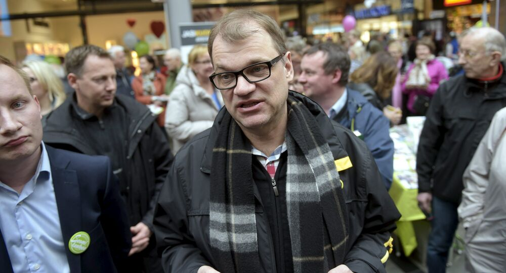 Juha Sipila, the leader of Finland's Center Party