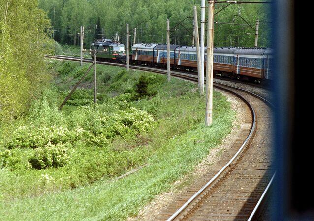 The Trans-Siberian Mainline in Russia's Irkutsk Region