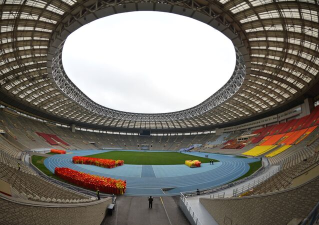 Renovation of Luzhniki stadium for 2018 football World Cup