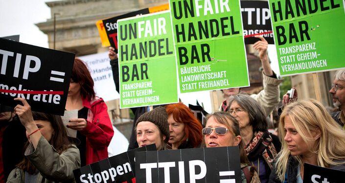 Anti-TTIP demonstration in Germany