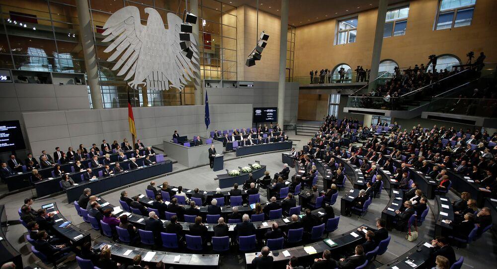 The German parliament Bundestag in Berlin, Germany
