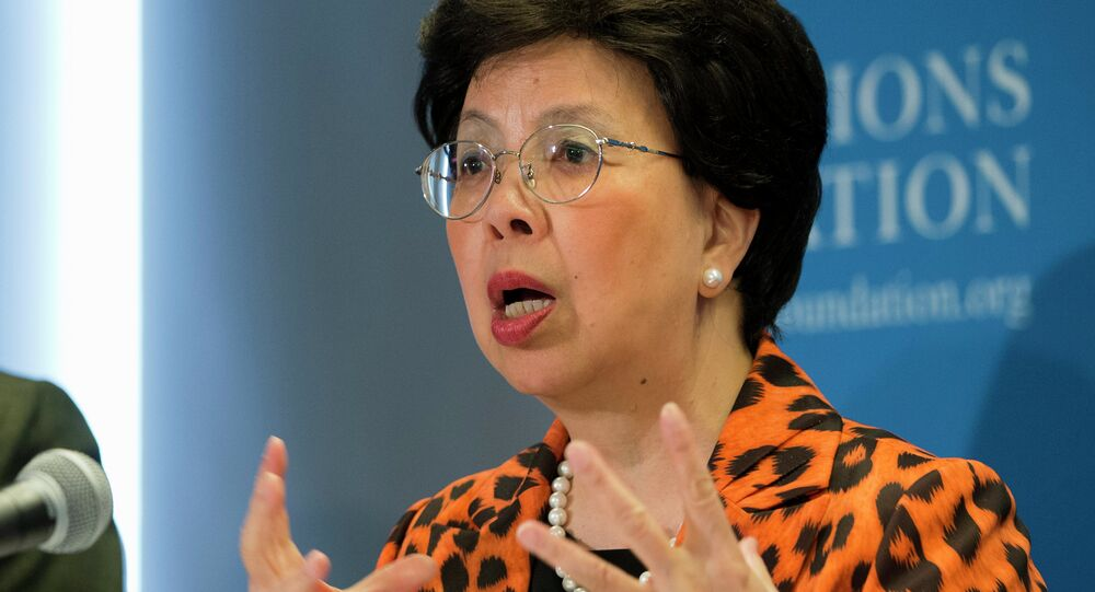 World Health Organization (WHO) Director Margaret Chan speaks about Ebola, Wednesday, Sept. 3, 2014, at the United Nations Foundation in Washington