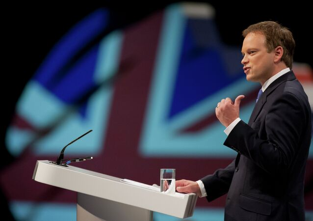 Grant Shapps opens Britain's Conservative Party Conference, Manchester, England