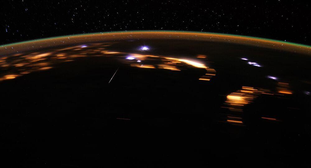 Stunning Lyrids Over Earth at Night