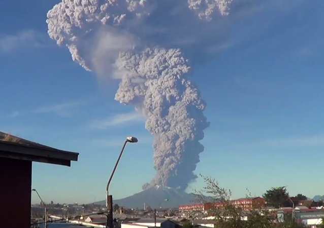Volcano Erupts in Chile Sending Plume of Ash Miles into Sky (VIDEO)