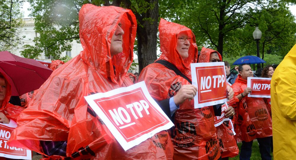 Rally To Oppose the Trans Pacific Partnership Trade Deal