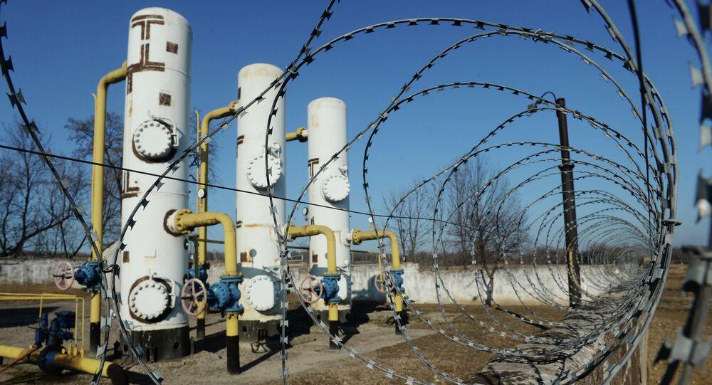 Gas distribution station in Yenakiyevo, Donetsk region.