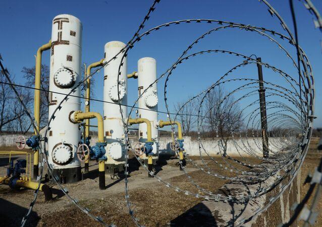 Gas distribution station in Yenakiyevo