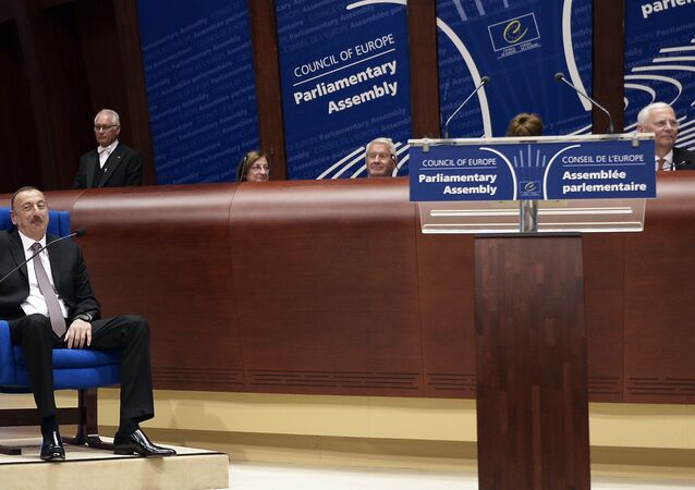 The Council of Europe parliamentary assembly in Strasbourg, eastern France
