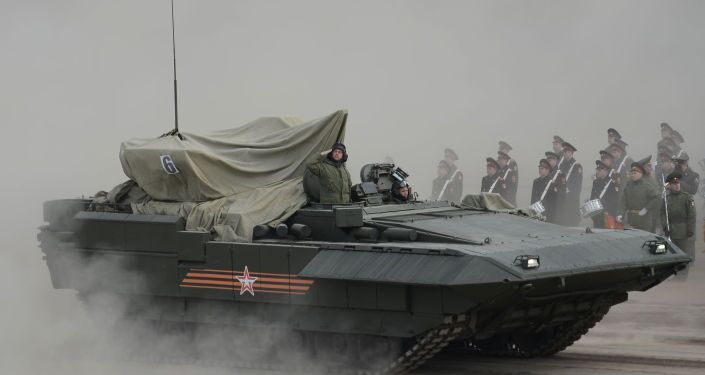 The Armata IFV during training to Parade of the Victory