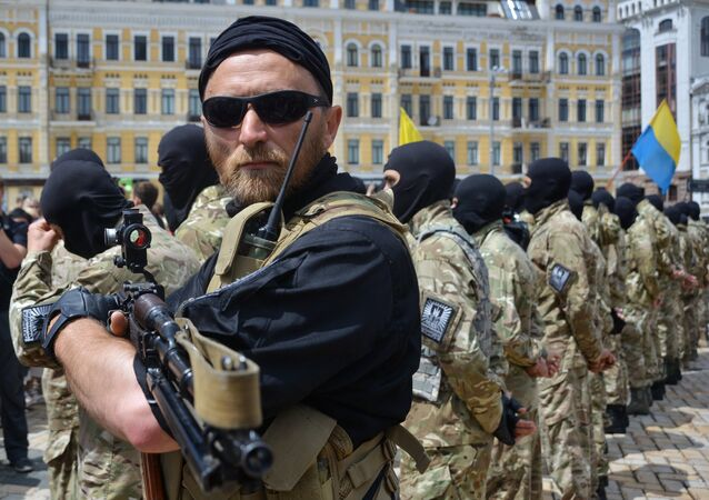 Recruits sworn in for Azov Battalion in Kiev