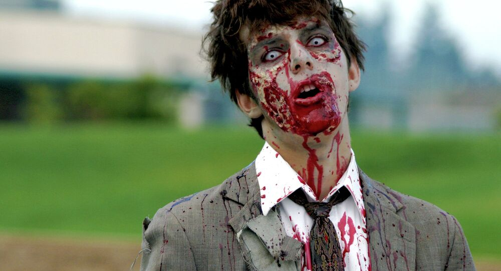So-called Preppers and survivalists gathered in a Utah suburb Friday to check out underground bunkers, kick the tires on armored vehicles, shop around for big knives, swap ideas on food storage and dress up as zombies.