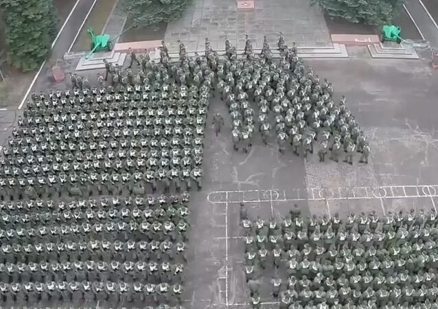 Russia: Drone footage captures cadets preparing for Victory Day celebrations