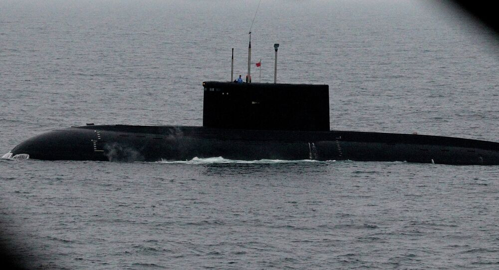 Russian navy conducts submarine rescue exercise