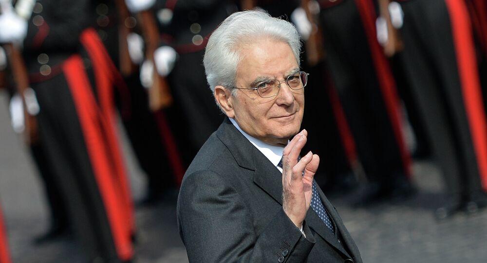 Italian President Sergio Mattarella