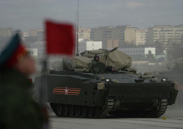 Kurganets-25 on Alabino military training grounds